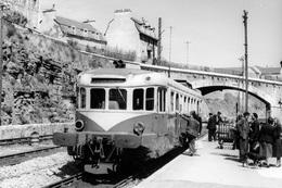 Mende. Autorail Renault-VH X 2119. Omnibus Le Monastier - La Bastide. Cliché Jacques Bazin. 14-05-1956 - Trains
