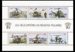 "TAAF Feuillet YT F654 "" Hélicoptères "" 2013 Neuf** - Blocs-feuillets"