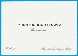 Carte De Visite PIERRE BERTRAND Pisciculteur 76 BEC-de-MORTAGNE - Visiting Cards