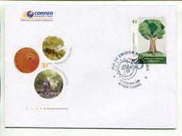 INGENIERÍA FORESTAL EN LA ARGENTINA. ARGENTINA AÑO 2008 SOBRE PRIMER DIA ENVELOPE FDC  -LILHU - Environment & Climate Protection