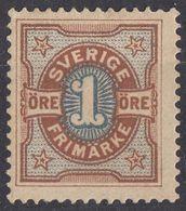 SVERIGE - SVEZIA - SWEDEN - 1892 - Yvert 51 Nuovo MH. - Nuovi