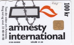 Denmark, DD 118, 100kr,  Amnesty International, IBM, Only 5000 Issued, 2 Scans. - Denmark