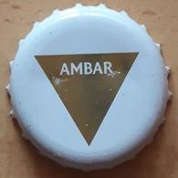 CHAPA DE CERVEZA AMBAR IPA - LA ZARAGOZANA. USADO - USED. - Cerveza