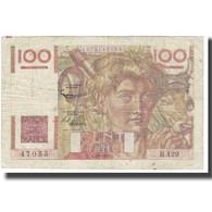 France, 100 Francs, Jeune Paysan, 1952, G.Gouin D'Ambrières-P.Gargam-R.Tondu - 1871-1952 Antichi Franchi Circolanti Nel XX Secolo