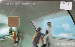 Denmark, DD 135, Underwater Tunnel, Only 9645 Issued, 2 Scans. - Denmark