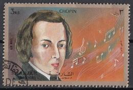 Sharjah 1972 Mi. 1384 Fryderyk Franciszek Chopin (1810-1849) Nuovo CTO - Musica