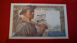 Billet Très Bon état 10 Francs Mineur A12/28814 - 1871-1952 Circulated During XXth
