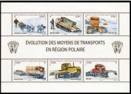 """TAAF Feuillet YT 560 à 566 """" Moyens De Transport """" 2010 Neuf** - Blocs-feuillets"""