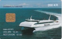 Denmark, DD 196c, Molslinien, Fast Ferry, Only 1206 Issued,  12.01 - Danimarca