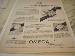 ANCIENNE PUBLICITE AUTOMATIC MONTRE OMEGA   1955 - Joyas & Relojería