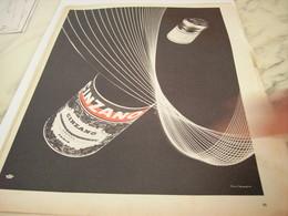ANCIENNE PUBLICITE APERITIF CINZANO 1957 - Publicités