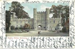 BATTLE ABBEY GATEWAY - SUSSEX - POSTALLY USED 1902 WITH HASTINGS STATION OFFICE POSTMARK - England