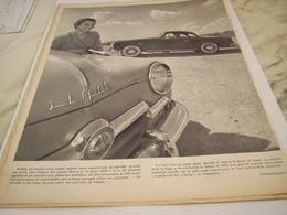 ANCIENNE   PUBLICITE VOITURE ARONDE DE SIMCA 1954 - Voitures