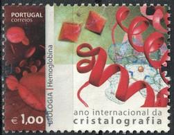 Portugal 2014 Oblitéré Used Cristalografia Biologie Hémoglobine Année Internationale De La Cristallographie SU - 1910-... République