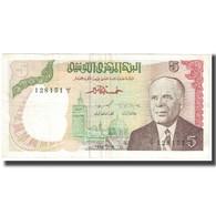 Billet, Tunisie, 5 Dinars, 1980, 1980-10-15, KM:75, TTB - Tunisie