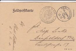 Feldpostkarte Oberkommando Der IV. Armee Brüssel - 1917  (41768) - Briefe U. Dokumente