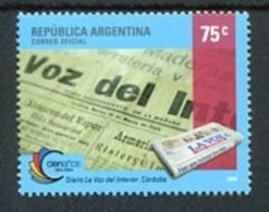 "100 AÑOS DEL DIARIO ""LA VOZ DEL INTERIOR"". ARGENTINA AÑO 2004 GJ GOTTIG JALIL 3352 MNH SERIE COMPLETA TBE -LILHU - Otros"