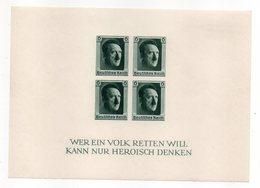 Allemagne --1937--Bloc Non Dentelé   N° 9  NEUF ** -- Cote  300€  --..........................à Saisir - Deutschland