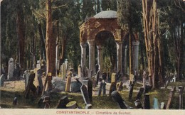 CONSTANTINOPLE. CIMAETIERE DE SCUTARI. CIRCA 1915'S - BLEUP - Turchia