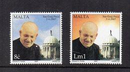 Malta - 2007 - Canonizzazione Di Padre George Preca - 2 Valori - Nuovi - Vedi Foto - (FDC15878) - Malta