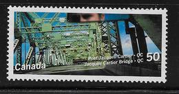 CANADA 2005  USED # 2100,  CANADA BRIDGES:  JACQUES CARTIER Bridge   Montreal  QC - 1952-.... Règne D'Elizabeth II
