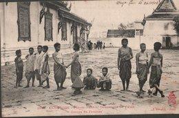 CPA DU CAMBODGE - PHNOM-PENH - DOMESTICITE DU PALAIS - GROUPE DE FEMMES - Cambodge
