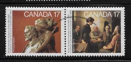 CANADA. 1980, # 850a, ACADEMY OF ARTS PAIR  Of  SE TENANT  USED - 1952-.... Règne D'Elizabeth II