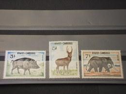 CAMBOGIA - 1967 ANIMALI 3 VALORI - NUOVI(++) - Cambodge
