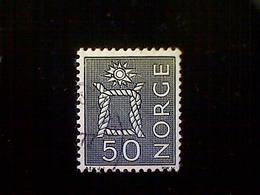 Norway (Norge), Scott #465, Used (o), 1968, Boatswain's Knot, 50ø, Indigo - Norway