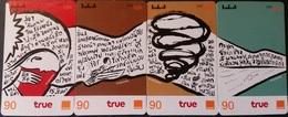 4 Mobilecards Thailand - True / Orange - Just Talk  - Puzzle ( 1 ) - Thaïland