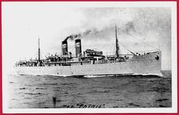 """Rare Format CPA T.S.S """"PATRIS"""" (Compagnie Nationale De Navigation Grecque) ** Bateau Ship Paquebot Grèce Greece - Steamers"""