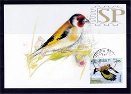 Portugal 2019 EUROPA 2019 CEPT Postal Maximo Pintassilgo Algarve Maximum Maxicard Fauna Goldfinch Ave Bird Carduelis - Oiseaux