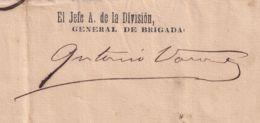 BE735 CUBA 1899 INDEPENDENCE WAR SIGNED DOC GENERAL DE BRIGADA ANTONIO VARONA - Historische Documenten