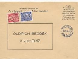 BuM (IMG2978) - Böhmen Und Mähren (1942) Holleschau - Holesov / Kremsier 1 - Kromeriz 1 (letter) Tariff: 1,50 K - Böhmen Und Mähren