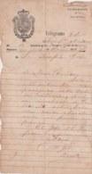TELEG-275 CUBA SPAIN (LG1720) TELEGRAMA 1875 REPORTE DE ACCIDENTE FERROCARRIL RAILROAD. - Historical Documents