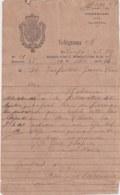 TELEG-276 CUBA SPAIN (LG1721) TELEGRAMA 1874 REPORTE DE AVERIA FERROCARRIL RAILROAD. - Historical Documents