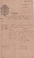 TELEG-277 CUBA SPAIN (LG1722) TELEGRAMA 1874 REPORTE DE AVERIA FERROCARRIL RAILROAD. - Historical Documents