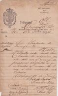 TELEG-278 CUBA SPAIN (LG1723) TELEGRAMA 1874 REPORTE DE ATROPELLO FERROCARRIL RAILROAD CIENFUEGOS. - Historische Documenten