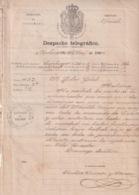 TELEG-279 CUBA SPAIN (LG1724) TELEGRAMA 1864 PERSECUSION DE ALIJOS ESCLAVOS SLAVE SLAVERY CIENFUEGOS. - Historical Documents