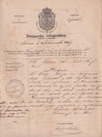 TELEG-280 CUBA SPAIN (LG1725) TELEGRAMA 1864 PERSECUSION DE ALIJOS ESCLAVOS SLAVE SLAVERY CUMANAYAGUA PIG BAY - Historical Documents