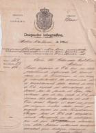TELEG-281 CUBA SPAIN (LG1720) TELEGRAMA 1864 PERSECUSION DE ALIJOS ESCLAVOS SLAVE SLAVERY. - Historical Documents