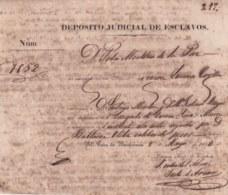 E6294 CUBA SPAIN 1852 DEPOSITO JUDICIAL DE ESCLAVOS WOMAN SLAVE PRISION SLAVERY. - Historical Documents