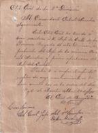 BE736 CUBA 1898 INDEPENDENCE WAR SIGNED DOC GENERAL DE BRIGADA M. RAMOS. - Historical Documents