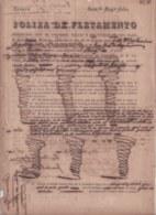 """E6295 CUBA SPAIN 1847 POLIZA DE FLETAMIENTO SHIP BERGANTIN """"UNICA HIPA"""" CON HARINA DE TRIGO. - Historical Documents"""