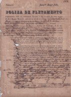 """E6296 CUBA SPAIN 1847 POLIZA DE FLETAMIENTO SHIP BERGANTIN """"AMANDA"""" CON HARINA DE TRIGO. - Historical Documents"""