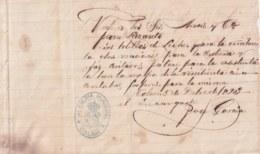 E6297 CUBA SPAIN 1893 VALE DE COMIDA Y JABON PARA EL LAZARETO INFECCIOSO DE COLON MATANZAS MILK - Historical Documents