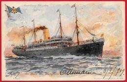 CPA AK Hamburg-Amerika Linie - An Bord Des Dampters ° Mühlmeister & Johler N° 909 ** Bateau Ship Paquebot - Steamers