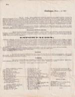 E6306 CUBA SPAIN 1857 CARTA CIRCULAR PRECIOS DE ALIMENTOS Y VINOS TRAIDOS DE ESPAÑA SHIP ALDEANA, BERGANTIN BELLA. - Historical Documents