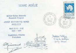 TAAF - Dumont D'Urville-T.Adélie: Lettre Avec Timbre N°91 Traité Sur L'Antarctique - 26/12/1983 - French Southern And Antarctic Territories (TAAF)