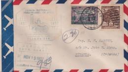 1937-FDC-113 CUBA REPUBLICA 1937 FDC REGISTERED CENTENARIO FERROCARRIL RAILROAD RAILWAYS BEJUCAL - FDC